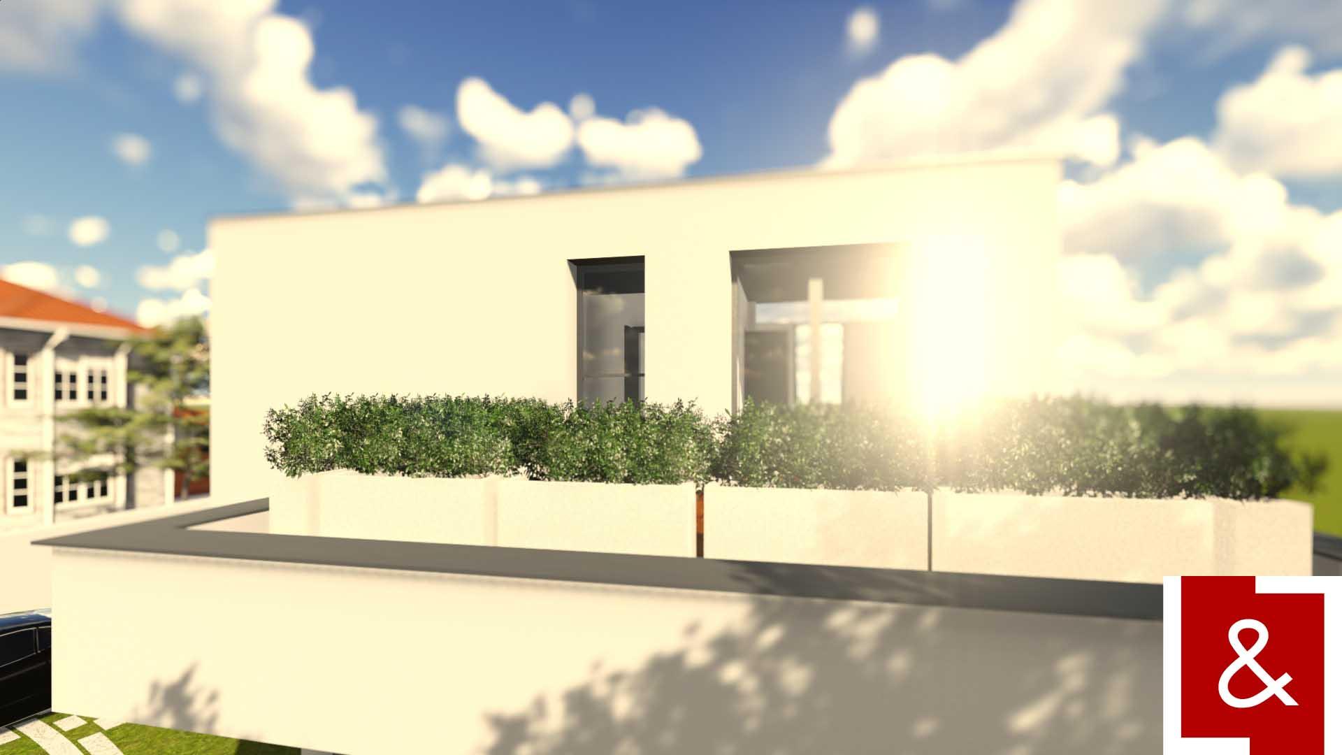casa moderna contemporana cub jardiniere